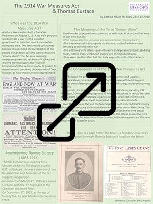 The 1914 War Measures Act & Thomas Eustace