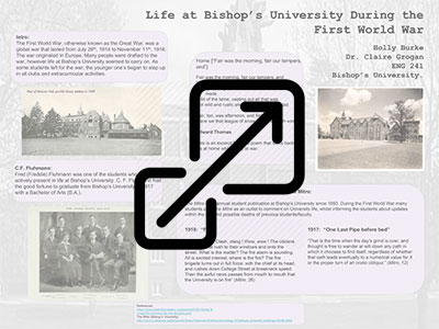 Life at Bishop's University During the First World War