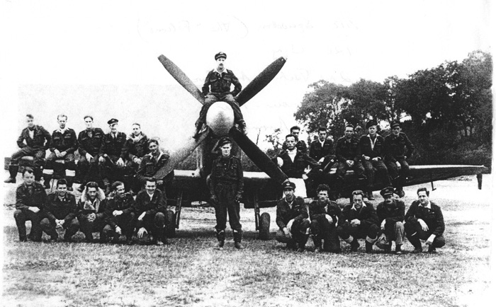 James Basil Doak with his Squadron
